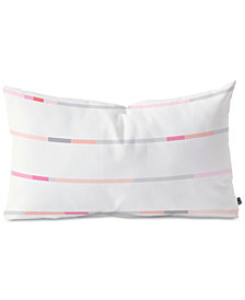 Deny Designs Iveta Abolina Pink Stripeland Oblong Throw Pillow