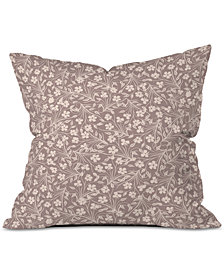 Deny Designs Jenean Morrison Pale Flower Throw Pillow