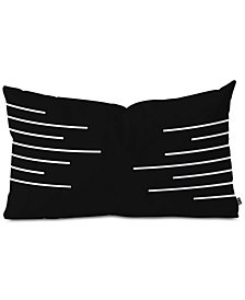 Deny Designs Kelly Haines Geometric Stripes Oblong Throw Pillow