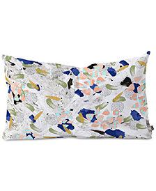 Deny Designs Marta Barragan Camarasa Abstract Shapes Of Textures On  II Oblong Throw Pillow