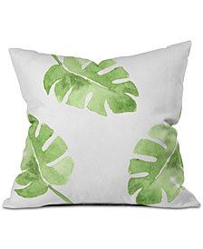 Deny Designs Wonder Forest Split Leaf Throw Pillow