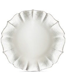 Jay Imports American Atelier Contessa Silver/Pearl-Tone Charger Plate