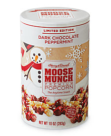Harry & David's Dark Peppermint Moose Munch Gourmet Popcorn Holiday Canister