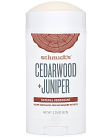 Schmidt's Deodorant Cedarwood + Juniper Deodorant Stick