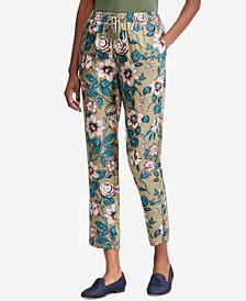 Lauren Ralph Lauren Petite Floral-Print Twill Pants