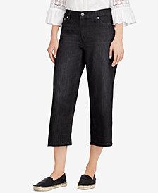Lauren Ralph Lauren Frayed Wide-Leg Jeans