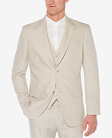 Perry Ellis Men's Herringbone Linen Blazer