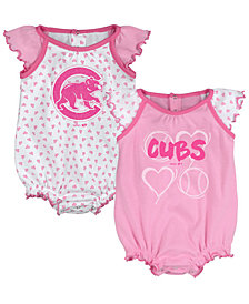 Outerstuff Chicago Cubs Heart Creeper Set, Infants (0-9 Months)