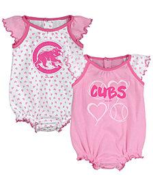 Outerstuff Chicago Cubs Heart Creeper Set, Infants (0-9 Months)