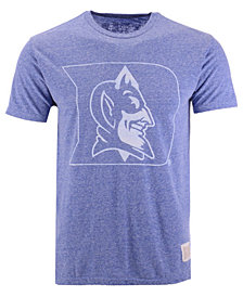 Retro Brand Men's Duke Blue Devils Mock Twist Vault Logo T-Shirt