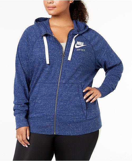 53a9c5cb642 Nike Plus Size Sportswear Gym Vintage Hoodie   Reviews - Tops ...