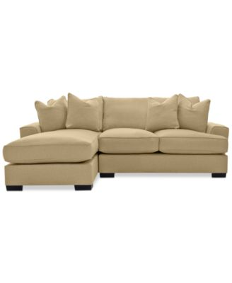 Ainsley 2-Piece Fabric Chaise Sectional with 4 Toss Pillows, Created for Macy's