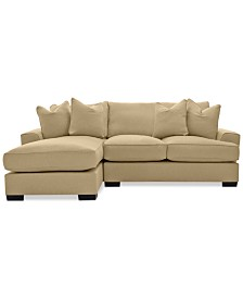 CLOSEOUT! Ainsley 2-Piece Fabric Chaise Sectional with 4 Toss Pillows, Created for Macy's