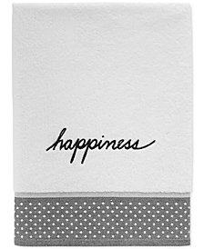 ED Ellen DeGeneres Words Cotton Embroidered Bath Towel
