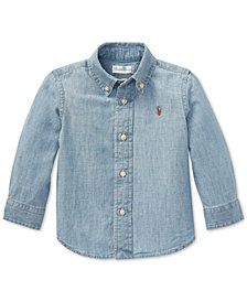 Ralph Lauren Baby Boys Cotton Chambray Shirt