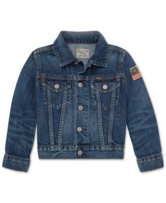 폴로 랄프로렌 Polo Ralph Lauren Toddler Boys Cotton Denim Trucker Jacket,Gordon Wash