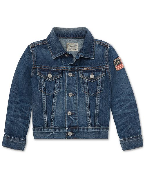 Polo Ralph Lauren Toddler Boys Cotton Denim Trucker Jacket
