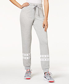 Material Girl Juniors' Printed Jogger Pants, Created for Macy's