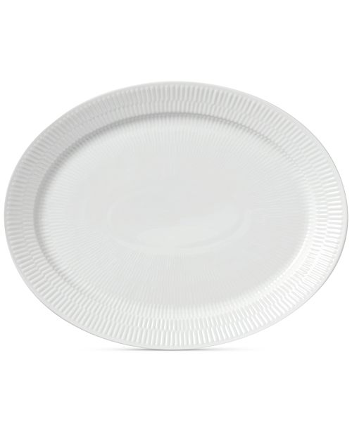 Royal Copenhagen White Fluted Oval Platter