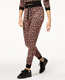 Material Girl Juniors' Ruched-Leg Jogger Pants, Created for Macy's