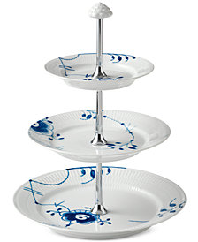 Royal Copenhagen Blue Fluted Mega 3-Tier Etagere