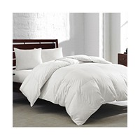 Deals on Royal Luxe White Goose Feather & Down 240-Thread Twin Comforter