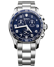 Victorinox Swiss Army Men's Chronograph Stainless Steel Bracelet Watch 41mm 241497