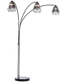 Nova Lighting Polygon 3-Light Arc Floor Lamp