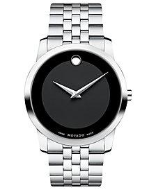 Movado Unisex Swiss Museum Stainless Steel Bracelet Watch 40mm 0606504