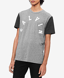 Calvin Klein Jeans Men's College Colorblocked Logo Graphic T-Shirt