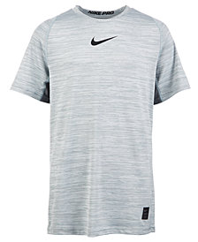 Nike Big Boys Mesh-Panel Graphic-Print T-Shirt