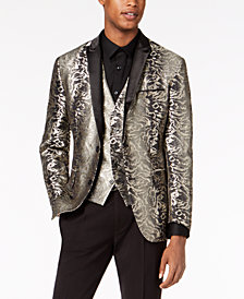 I.N.C. Men's Slim-Fit Gold Jacquard Suit Jacket, Created for Macy's