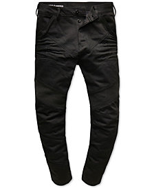 G-Star RAW Men's Black Moto Jeans, Created for Macy's