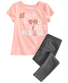 Epic Threads Little Girls T-Shirt & Pants, Created for Macy's
