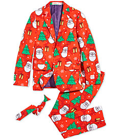 OppoSuits Big Boys 3-Pc. Holiday Hero Suit & Tie Set