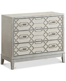Comstock Ivory Three-Drawer Chest, Quick Ship