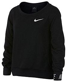 Nike Big Girls Graphic-Cuff Pullover Sweatshirt