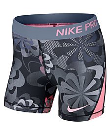 Nike Big Girls Pro Printed Shorts
