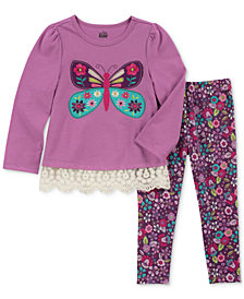 Kids Headquarters Toddler Girls 2-Pc. Long-Sleeve Butterfly Tunic & Leggings Set