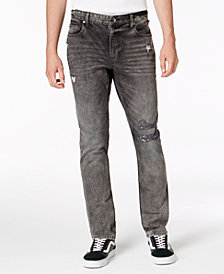 American Rag Men's Sterling Slim-Fit Ripped Jeans, Created for Macy's