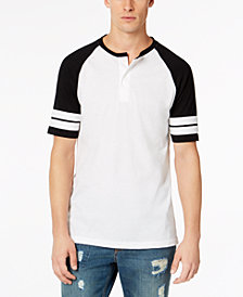 American Rag Men's Varsity Colorblocked Raglan-Sleeve Henley, Created for Macy's