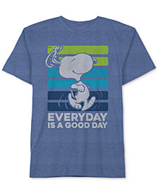 Peanuts Big Boys Snoopy Graphic-Print T-Shirt