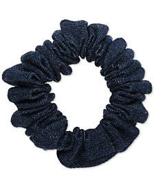 France Luxe Denim Ponytail Holder