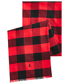 Polo Ralph Lauren Men's Lightweight Buffalo Plaid Scarf