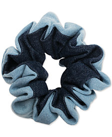 France Luxe Light & Dark Denim Ponytail Holder