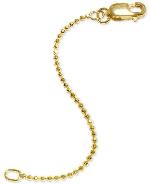 """Alex Woo Beaded 2"""" Chain Extender in 14k Gold"""