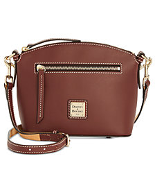 Dooney & Bourke Beacon Domed Smooth Leather Crossbody