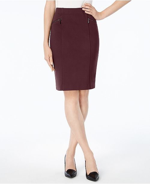 Alfani Petite Ponte Pencil Skirt, Created for Macy's