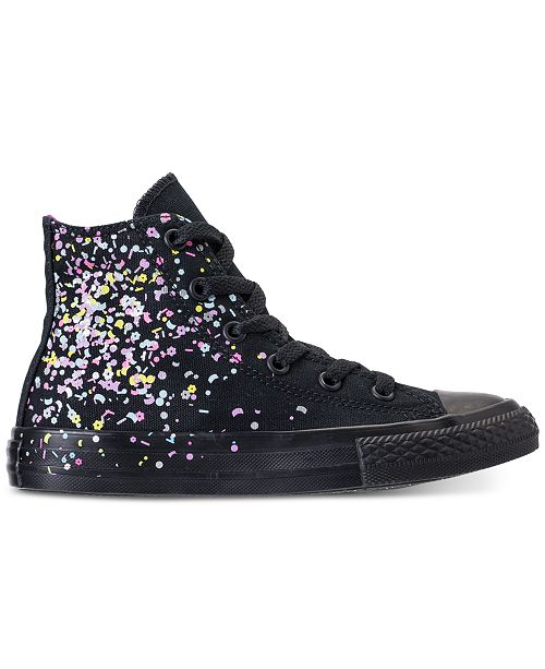 ... Converse Girls  Chuck Taylor All Star High Top Confetti Casual Sneakers  from Finish ... b82012364
