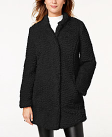 Kenneth Cole Faux-Fur Teddy Coat